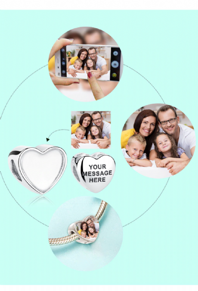 Personalised Photo Diamante Charm